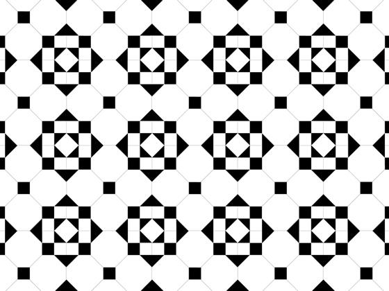 Hallington White/Black