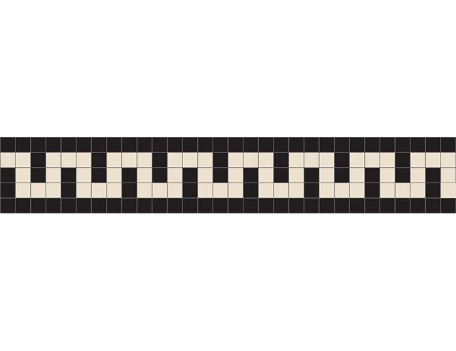 Greek Key White/Black