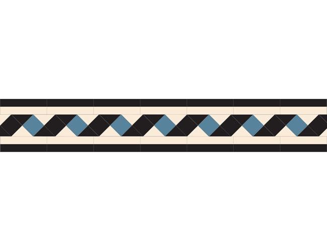 Ribbon Black/White/Dark Blue