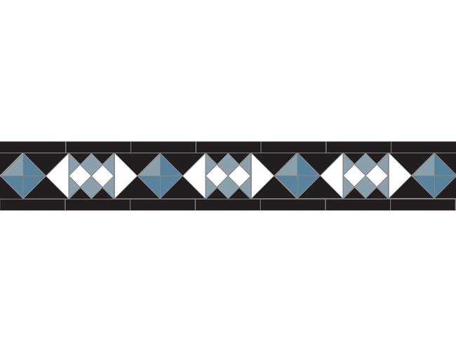 Swansea Black/Pale Blue/Dark Blue/Super White
